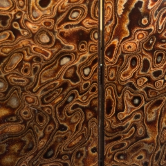 Detail of the Urushi lacquer door panel