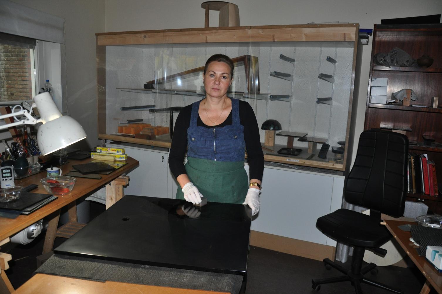 Marina in the workshop